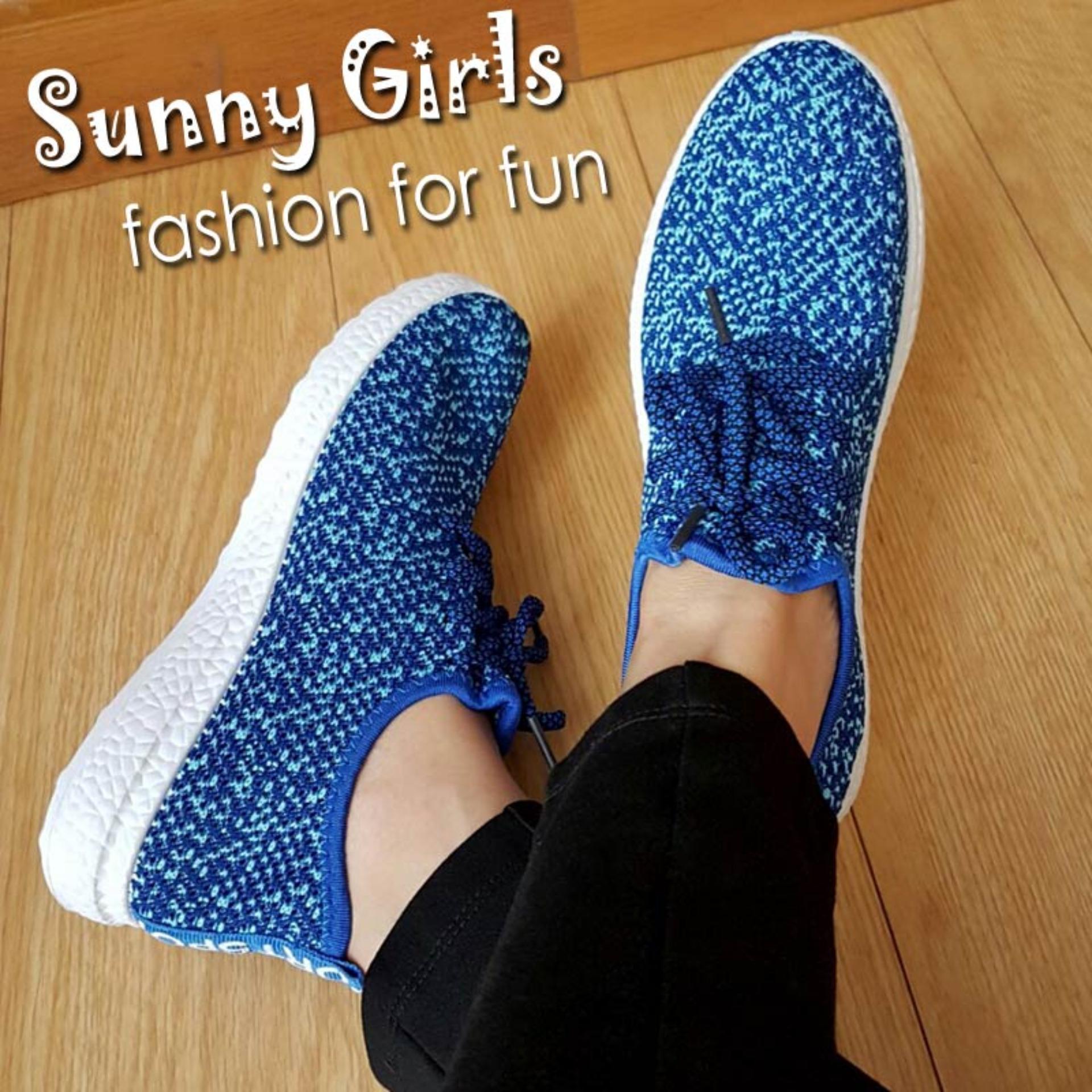 Toko Sunny Girls Helena Sepatu Sneakers Wanita 1081 Blue Online Di Jawa Barat