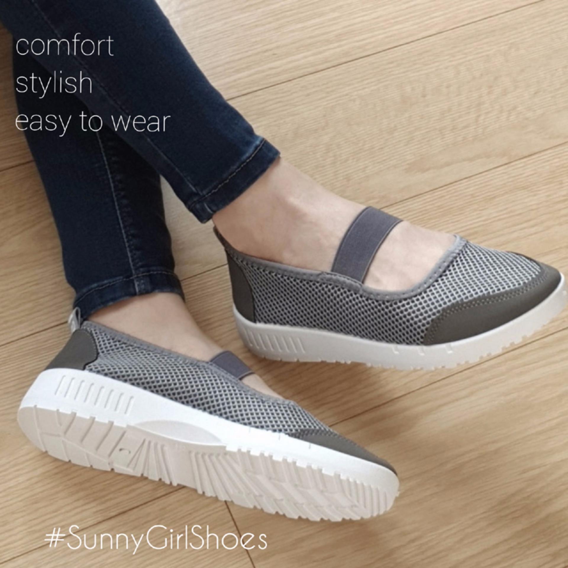 Beli Sunny Girls Ola Sepatu Sneakers Wanita 3355 Grey Yang Bagus