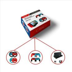 SunnyShop10-in-1 Permainan Accessory Set Pengemudian Roda Pengendali Genggaman Kabel Tipe-c USB Pengisian Daya Dock Spesifikasi: 10 Dalam 1-Internasional