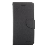 Beli Sunsky Cross Pencocokan Warna Tekstur Kulit Horisontal Flip Cover For Asus Zenfone Selfie Zd551Kl Hitam Di Tiongkok