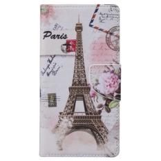 SUNSKY Menara Eiffel Pola Case Kulit Horisontal Flip dengan Pemegang Kartu Slot Dompet untuk Microsoft Lumia 950 (Multicolor)