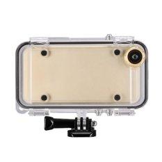 SUNSKY Olahraga Ekstrim Case Tahan Terhadap Udara With 170 Derajat Sudut Lebar Lensa untuk IPhone 6 6 S, Compatible With GoPro Aksesoris