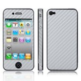 Jual Sunsky Full Housing Carbon Fiber Skin Sticker For Iphone 4S Silver Intl Satu Set