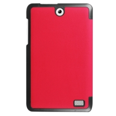 SUNSKY Leather Custer Texture Horizontal Solid Color with Three-folding Holder Flip Case for Acer Iconia One 8 / B1-850 (Red) - intl