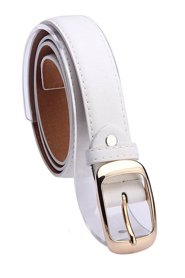 Beli Sunweb Fashion Wanita Faux Leather Belt Girls Fashion Aksesoris Putih Baru