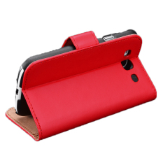 Sunweb Dompet Pemegang Kartu Pria Wanita Merah Lembut Sintetis Leather Flip Case Cover untuk Samsung Galaxy S3 S4 S5 Note3
