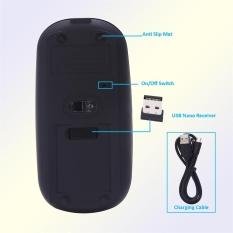 Super Tipis Bisa Diisi Ulang 2.4G Mouse Nirkabel untuk PC dan Laptop dan Android-Intl