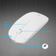 Super Tipis Bisa Diisi Ulang Bluetooth 3.0 Mouse Nirkabel untuk PC BK-Intl