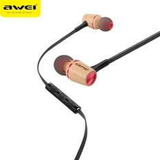 SuperCart Awei ES-80TY Wooden Wired In-Ear Earphones - intl