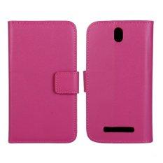 Supervalue Kasus Dompet Kulit Asli Kulit Cover untuk HTC One SV (Rose)-Intl