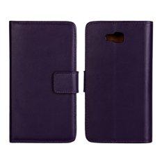 Supervalue Kasus Dompet Kulit Asli Kulit Cover untuk LG Optimus L9 II (Ungu)-Intl