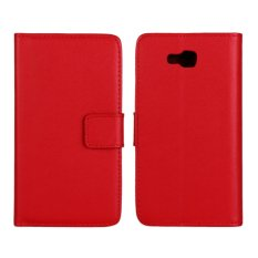 Supervalue Genuine Leather Wallet Case Skin Cover for LG Optimus L9 II (Red) - intl