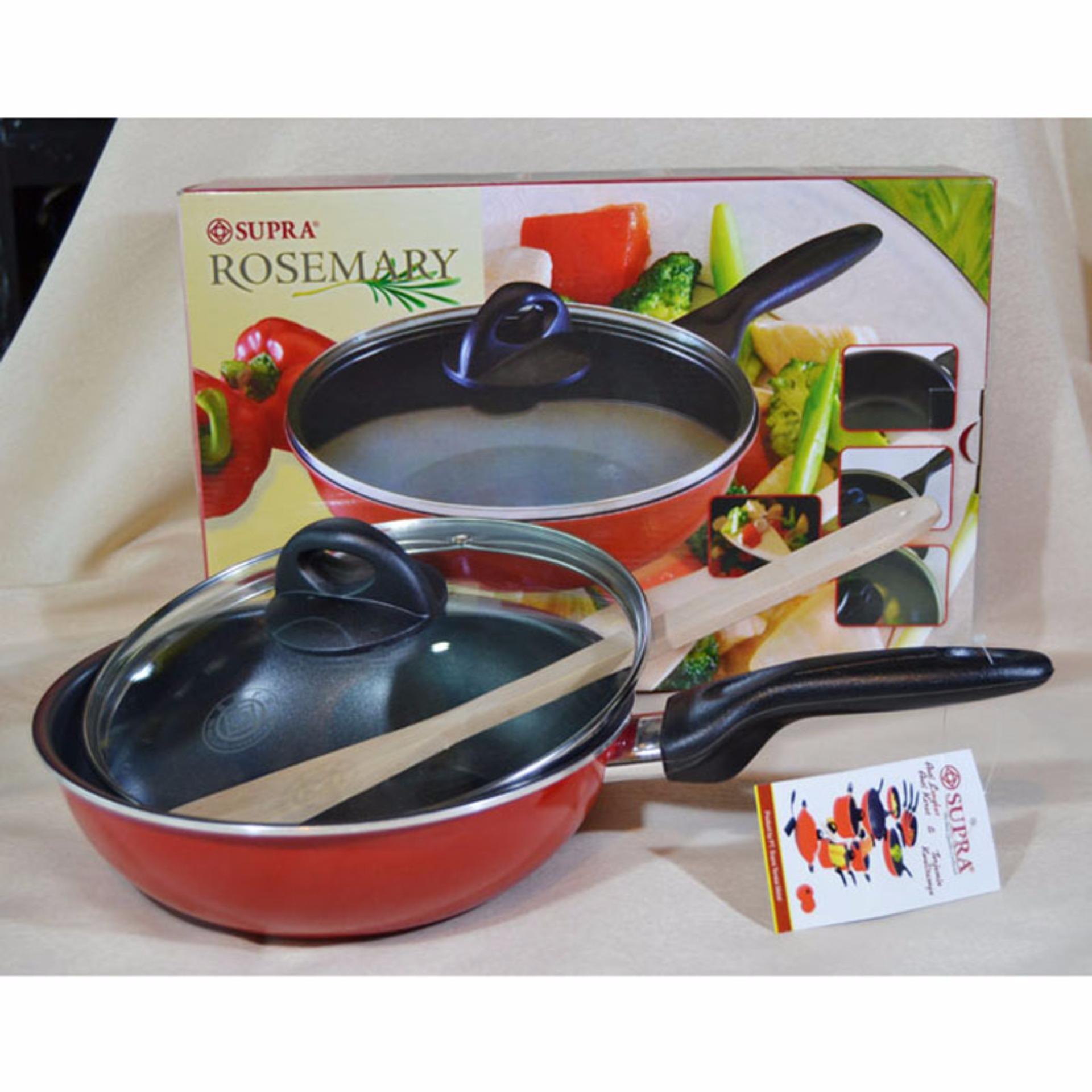 Tips Beli Supra Rosemary Non Stick Stir Pan Lid Spatula 22 Cm