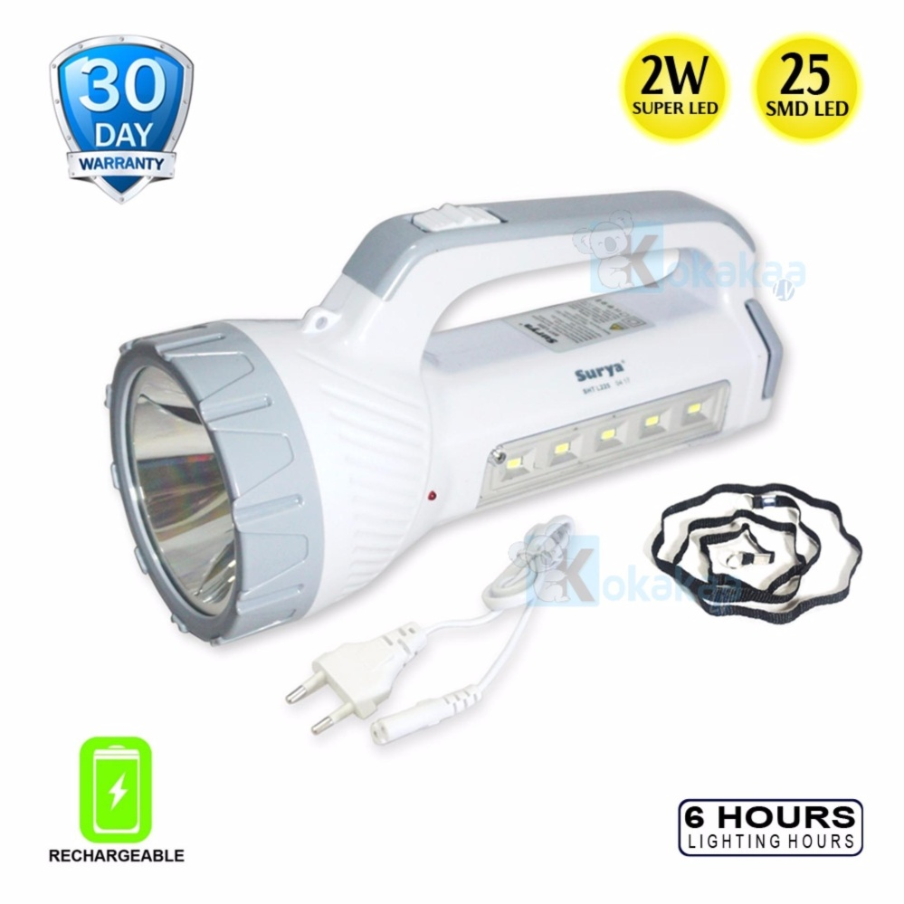 Ulasan Tentang Surya Lampu Emergency Sht L225X Senter Super Led 2W Light Led 25 Smd Rechargeable