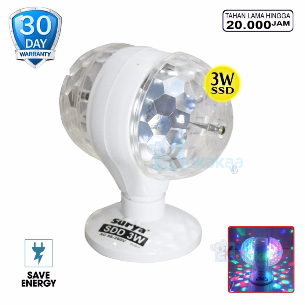 Surya SDD 3W Lampu LED Double Disco Rotating LED