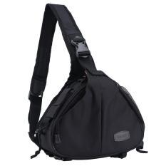 Svoovs Black Waterproof Crossbody Single Shoulder Tas Nilon untuk Kamera Canon 600D D600 7D 5D2 60D dan Nikon D90 D60 D700 D7000-Intl
