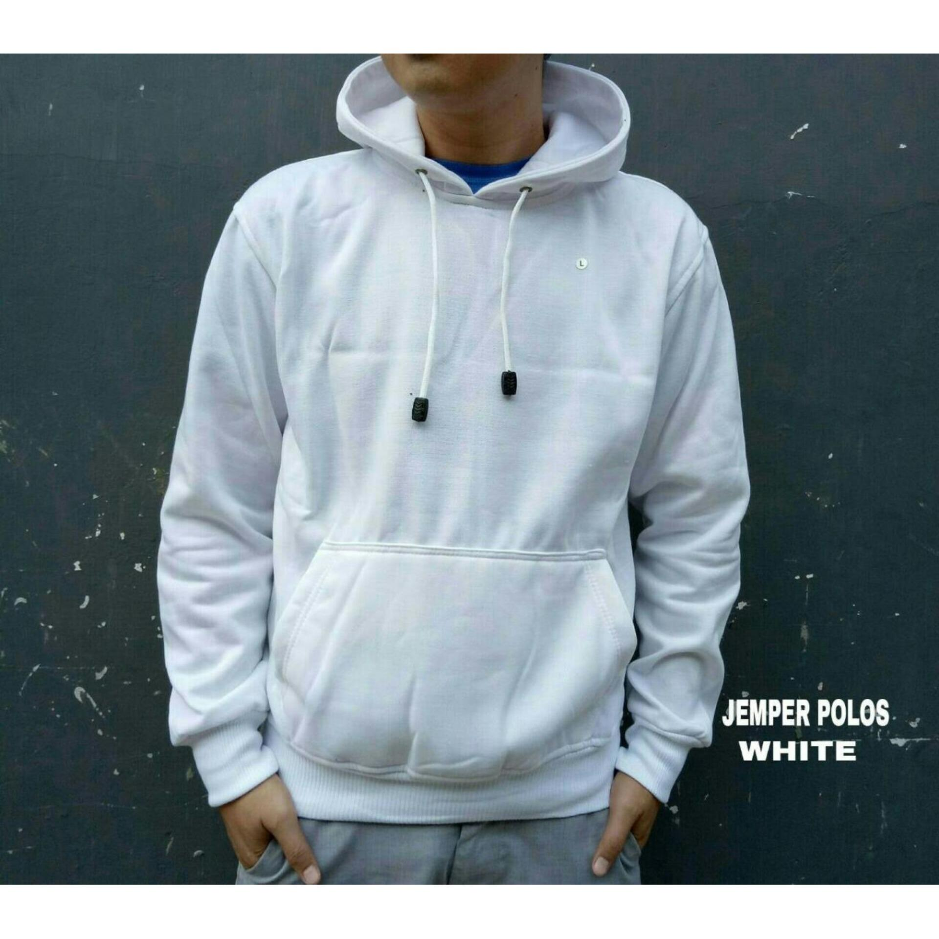 Diskon Sw Jaket Sweater Hoodie Pria Best Seller Putih Branded