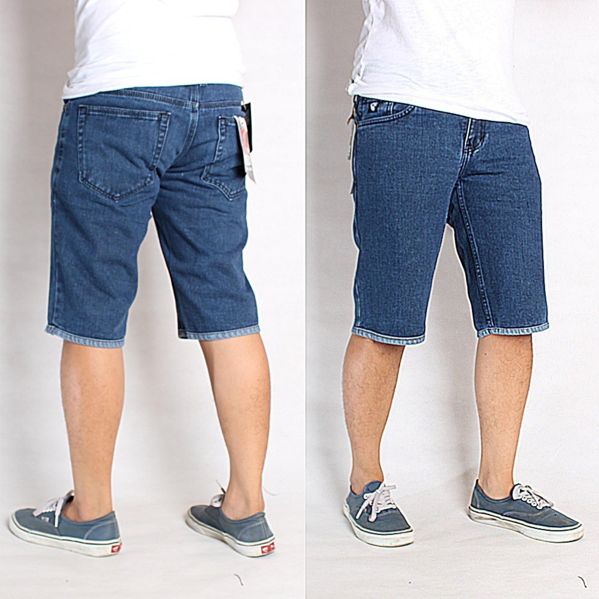 Toko Sw Celana Jeans Pendek Pria Biru Online