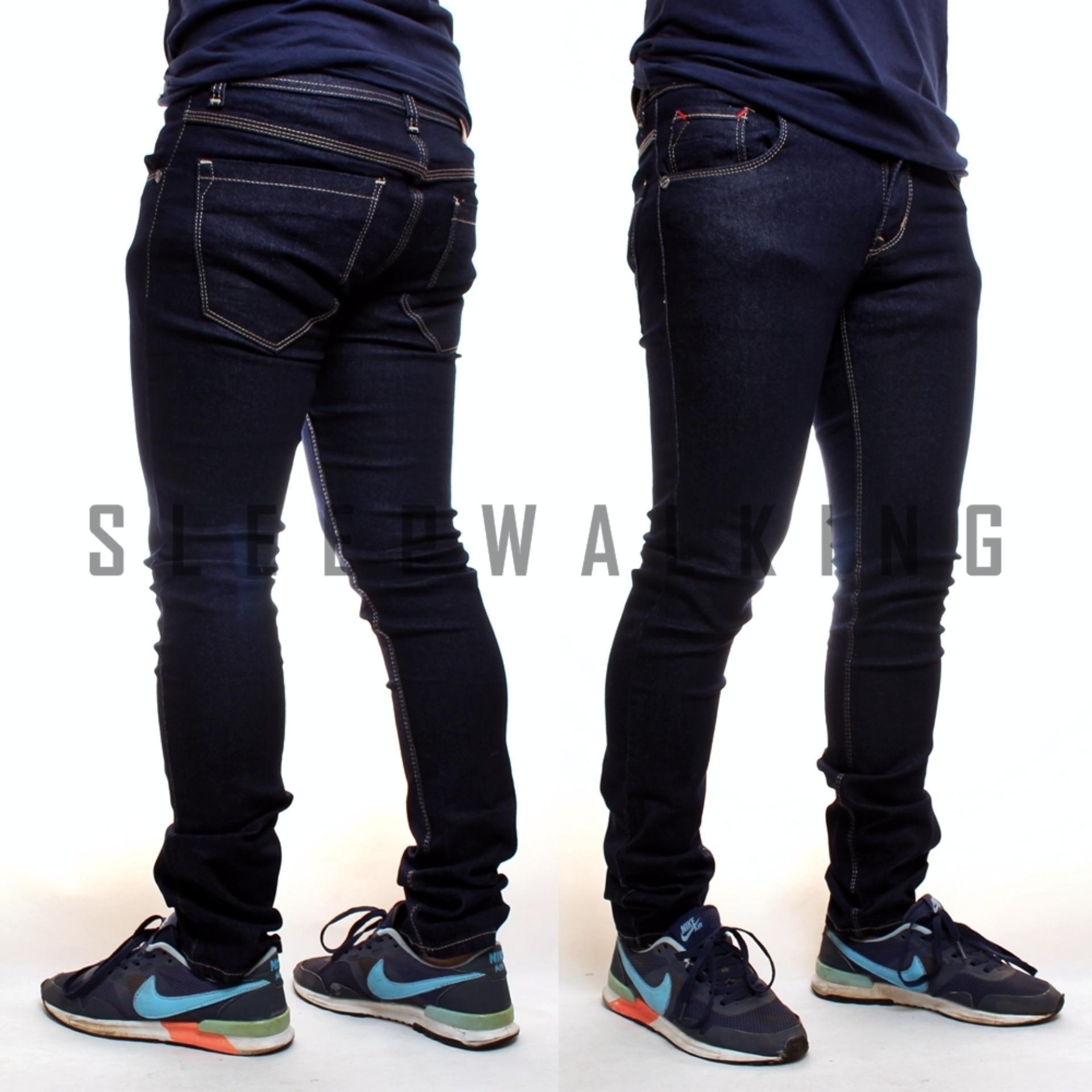 Jual Sw Celana Jeans Skinny Panjang Dongker Tua Jawa Barat