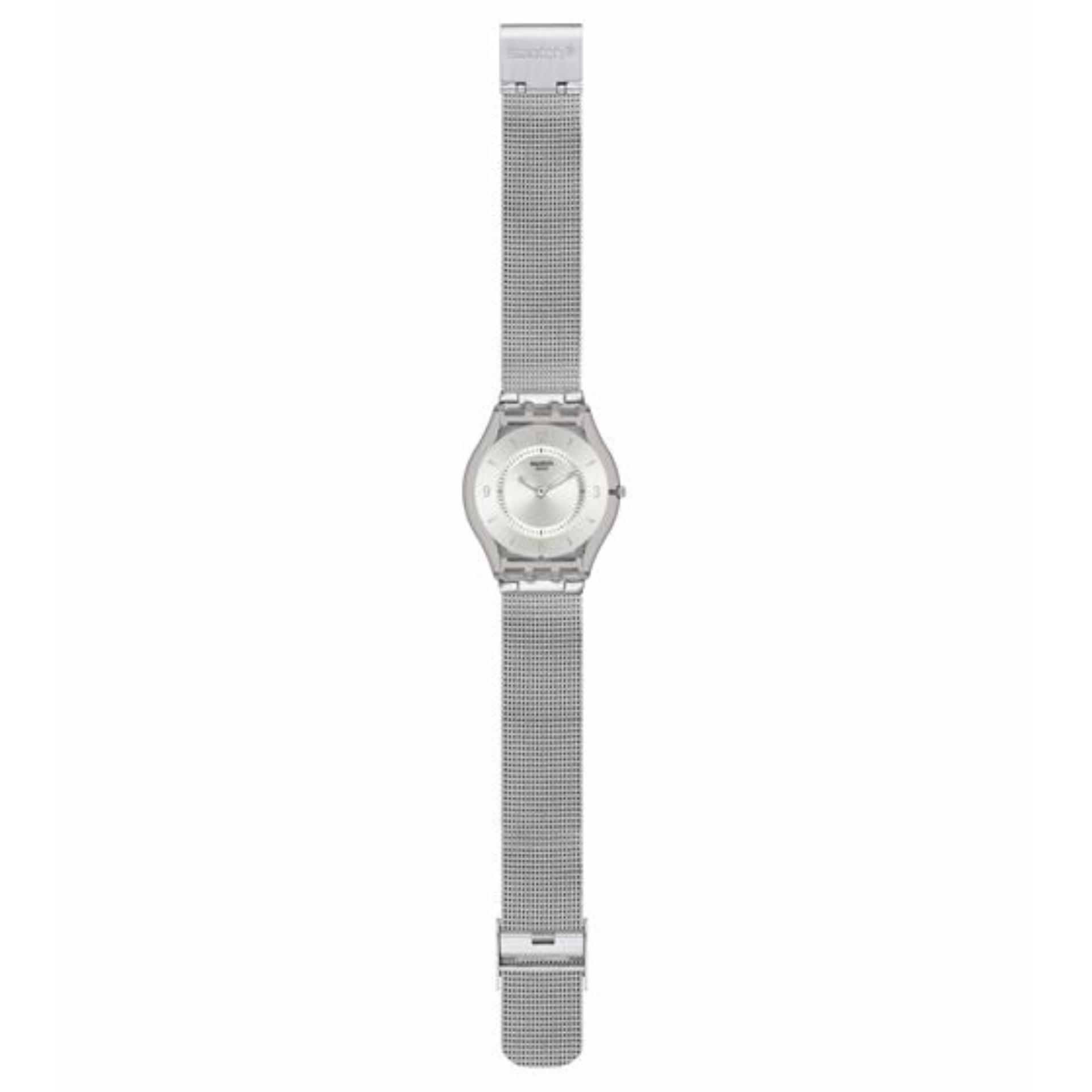 Harga Swatch Sfm118M Metal Knit Jam Tangan Wanita Bahan Tali Metal Silver Seken
