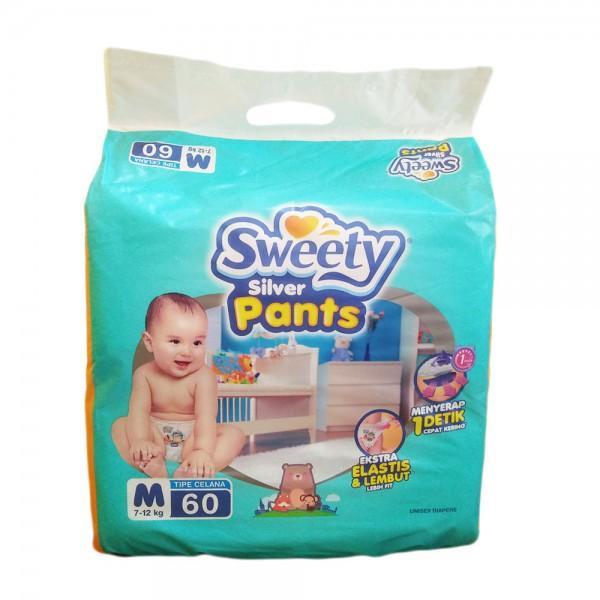 Sweety Popok Bayi Silver Pants M 60 Sweety Diskon 30