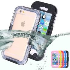 Renang Tahan Air Tertutup Tahan Lama Case untuk Apple IPhone 6/6 S 4.7 Inch Tahan Guncangan Ponsel Case (IPHONE 6 /6 S Hitam) -Intl