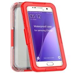 Renang Tahan Air Tertutup Tahan Lama Case untuk Samsung Galaxy S7 Edge Shockproof Kasus Telepon (SAMSUNG Galaxy S7 Edge Red) -Intl