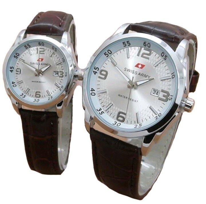 Harga Swiss Army Jam Tangan Couple Leather Strap Sa 152 Brown Dial Couple Lengkap