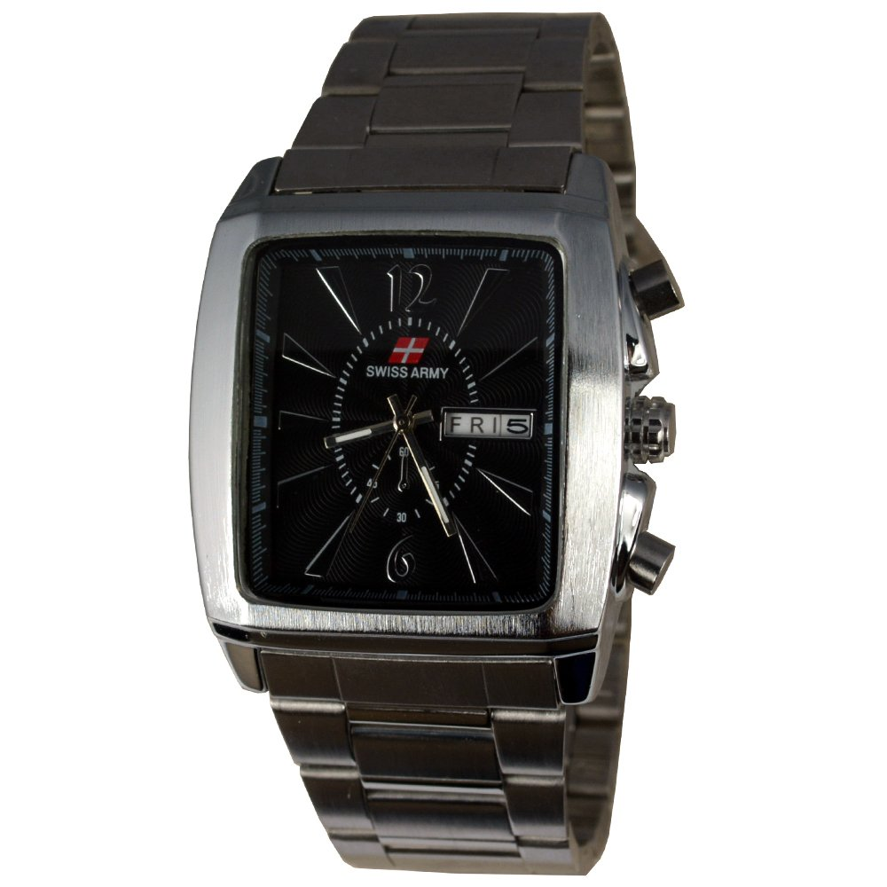 Beli Swiss Army Jam Tangan Pria Body Silver Black Dial Stainless Steel Band Sa Rt T H 2325 Sb Cicil