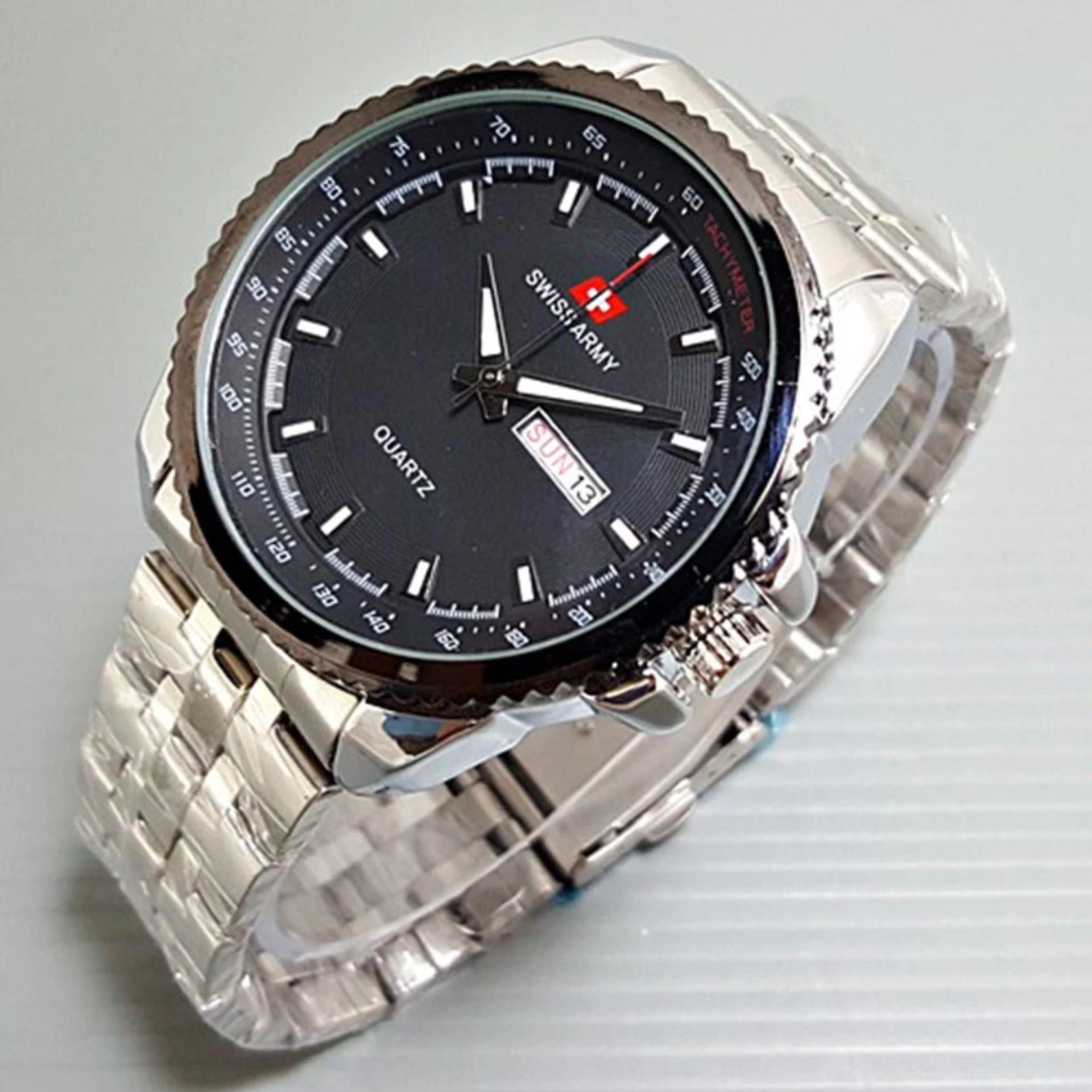 Spesifikasi Swiss Army Jam Tangan Pria Silver Strap Stainless Sa2924 Beserta Harganya