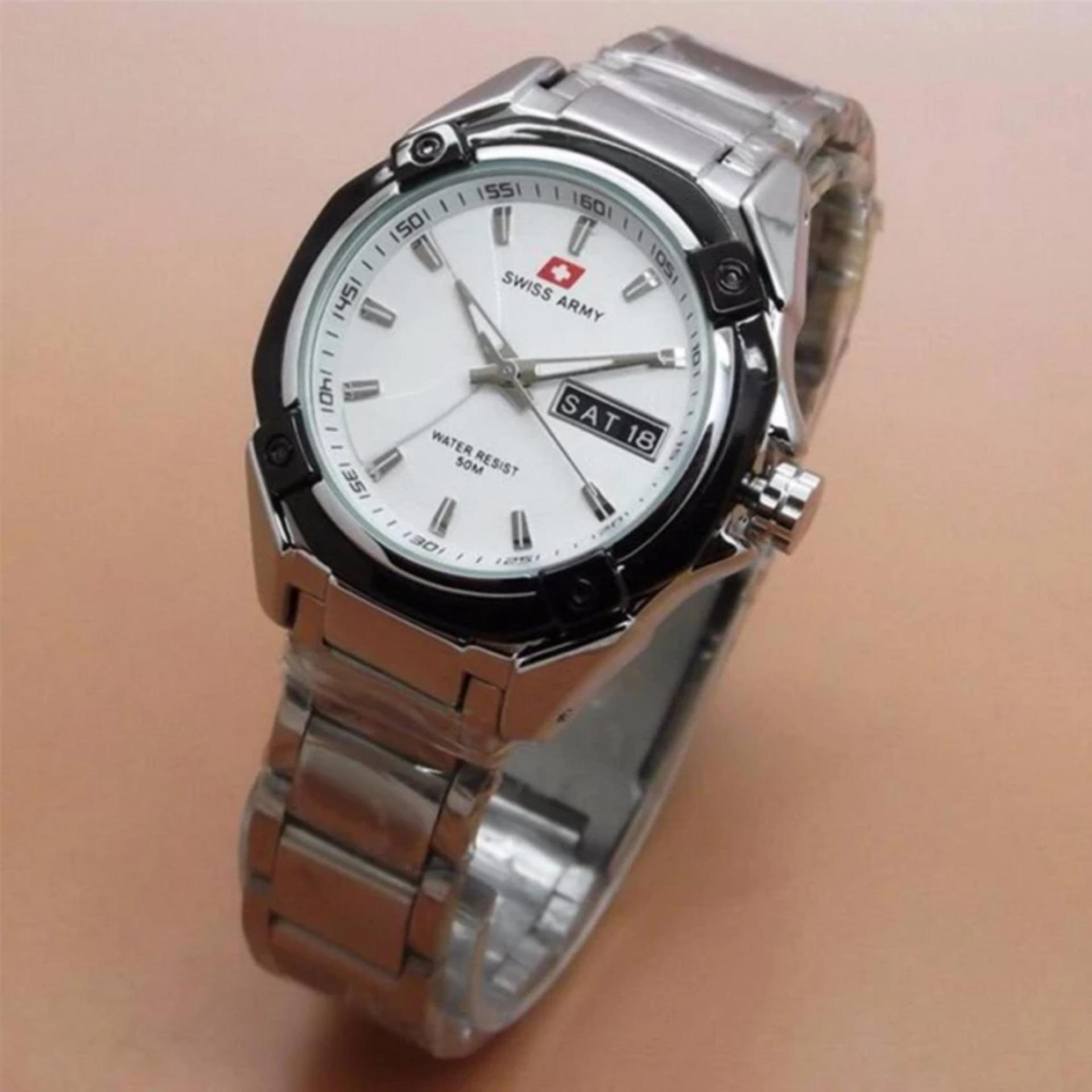 Couple Strap Stainless Steel Polos. Source · Swiss Army - Jam Tangan .