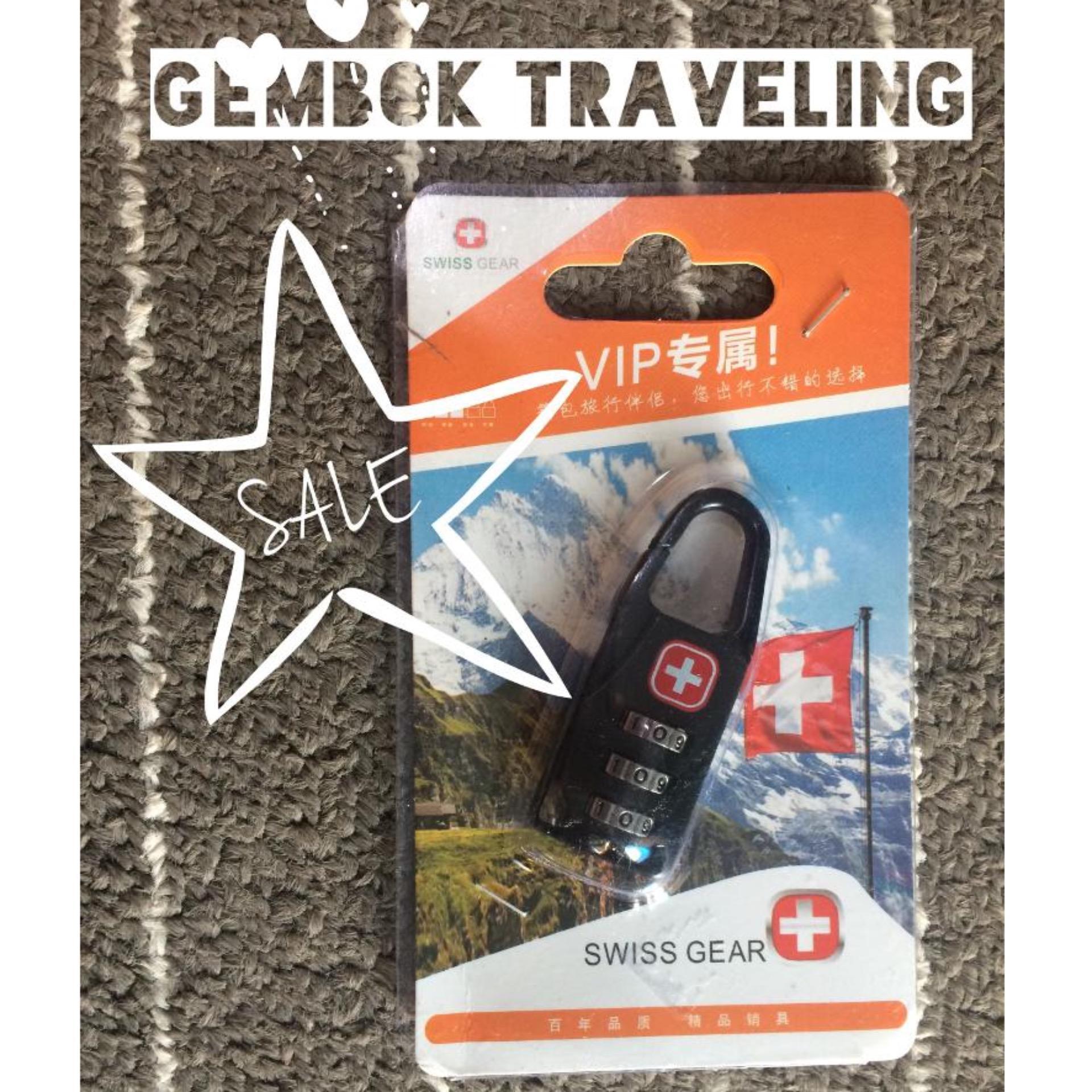 Swiss Gear Gembok untuk traveling dengan Lock kode Kombinasi