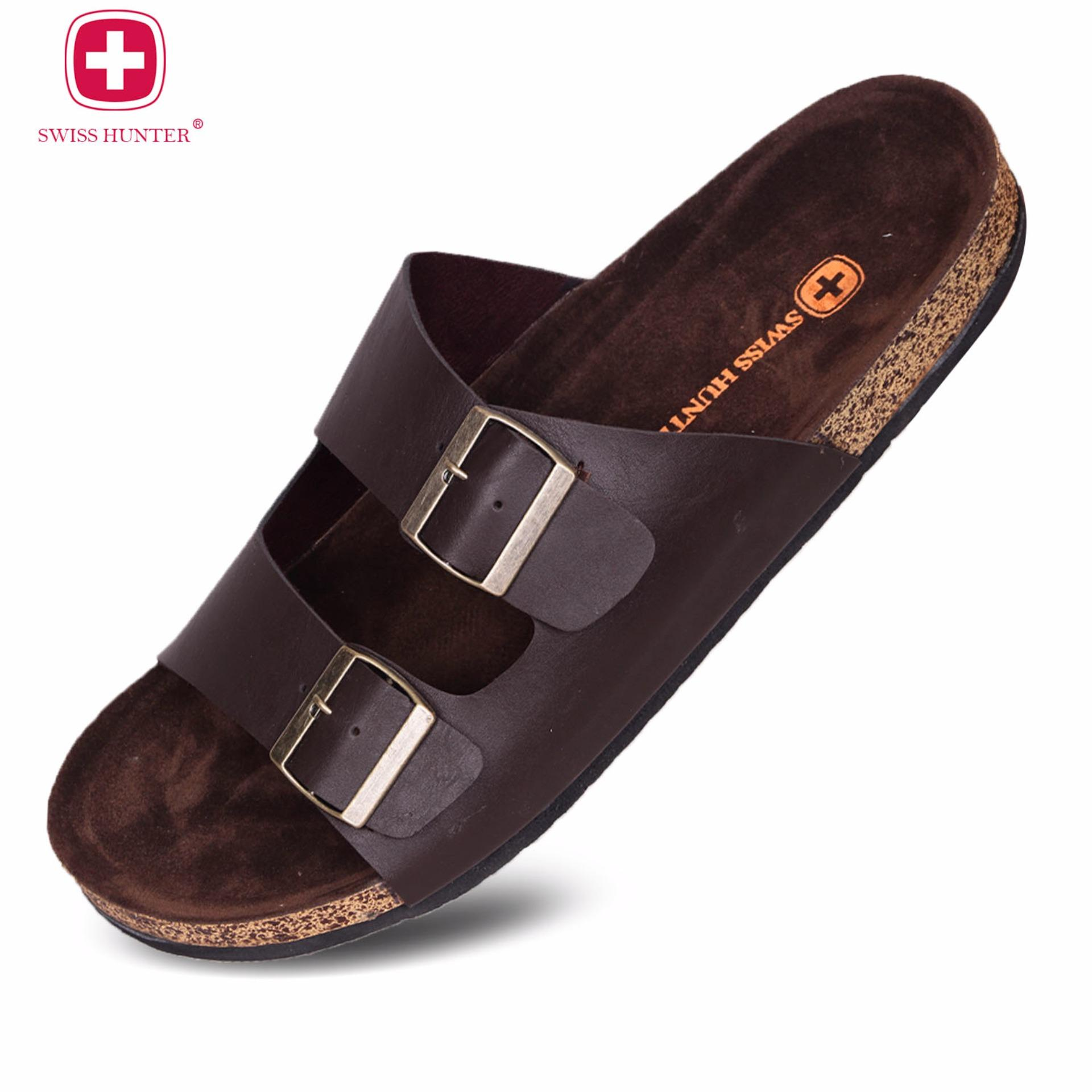 Swiss Hunter Magnus Sandal DarkBrownIDR75000. Rp 75.000