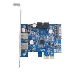 Sworld 2 USB3.0 Port 5 Gbps PCI-E PCI Express Card dengan 15pin SATA Power Konektor-Internasional