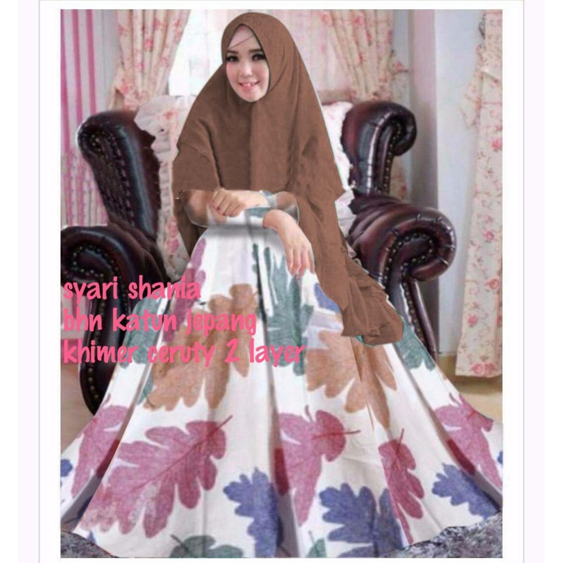 Gsd Fashion Baju Muslim Wanita Set Levi Salem Update Daftar Harga Kekinian Dress Sauqina M Sw Rayon Maroon