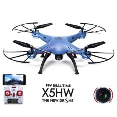 Syma X5HW-I Wifi FPV Drone with HD Camera Live Video Altitude Hold Function 2.4Ghz 4CH RC Quadcopter - Biru