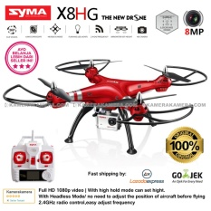 SYMA X8HG With 8MP HD Camera Altitude Hold Mode 2.4G 4CH 6Axis RTF Red - Original