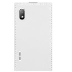 Sintetis Flip Leather Cover untuk LG Optimus L5 E610 E612 (Putih)