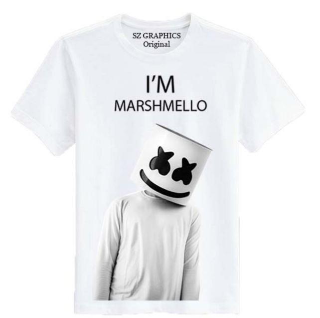 Jual Beli Sz Graphics Im Marshmello T Shirt Pria Marshmello Kaos Pria Marshmello T Shirt Fashion Pria Putih Dki Jakarta
