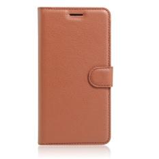 SZYHOME Ponsel Case untuk ZTE Blade A452 Mewah Retro Kulit Dompet Flip Penutup Hitam Biru Coklat Hijau Merah Muda Ungu Merah Rose Putih Warna Solid Shell-Intl