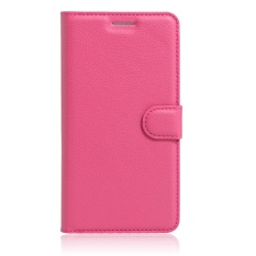 Szyhome Ponsel Case untuk ZTE Blade V8 Lite Mewah Retro Dompet Kulit Flip Penutup Hitam Biru Brown Hijau Merah Muda Ungu Merah Rose Putih Warna Solid Shell-Intl