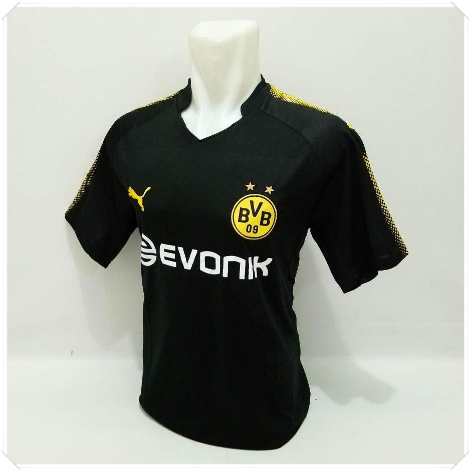 T Shirt Kaos Olahraga Bola Baju Bola Pakaian Pria Sport Atasan Pria Football Futsal Jersey Bola Murah Dortmund Away Asli
