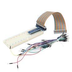 Tipe T GPIO Dewan ekstensi + diseduh sendiri papan tempat memotong roti + Pelangi 40 tandai kabel pita datar + 65 buah kabel jumper untuk Raspberry Pi 2 3 model B