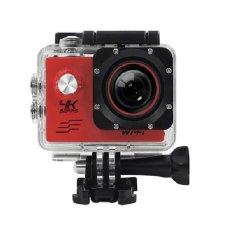 T4Shops Action Camera 4K 30Fps Wifi 16 Mp Sony 179 Merah Diskon Akhir Tahun