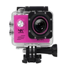 T4Shops Action Camera 4K 30Fps Wifi 16 Mp Sony 179 Pink Diskon Akhir Tahun