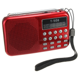 Spek T508 Mini Led Portabel Speaker Radio Fm Stereo Usb Kartu Tf Mp3 Pemutar Musik Merah
