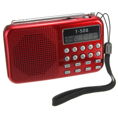 Jual T508 Mini Led Portabel Speaker Radio Fm Stereo Usb Kartu Tf Mp3 Pemutar Musik Merah Oem Original