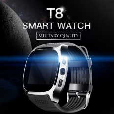 Jual T8 Smart Watch Phone 1 54 Inch Ips Gsm Bluetooth V3 Watch With Pedometer Camera Mtk6261D Sleep Monitor Fm Radio Wristwatch Intl Branded