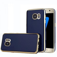 TabPow Galaxy S7 Case, Electroplate Slim Glossy Finish, Drop Protection, Shiny Luxury Case For Samsung Galaxy S7 (5.1 inch) 2016 Release - Royal Blue Gold - intl