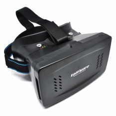 Harga Taffware Cardboard Vr Box Head Mount Generation 3D Virtual Reality Black Indonesia